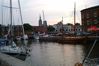 Northern harbour of Stralsund - click to enlarge